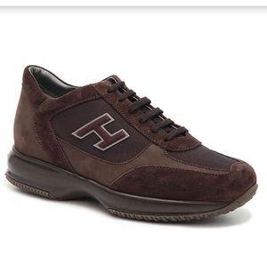 HOGAN brown suede sneakers
